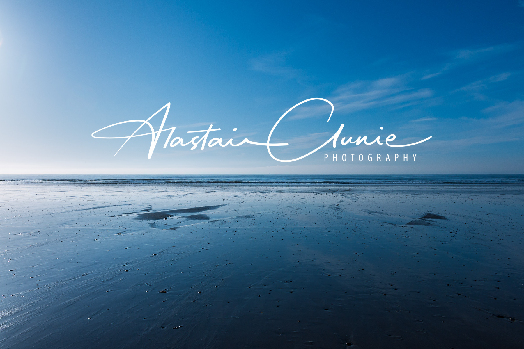 Logo, seascape, Alastair Clunie Photography